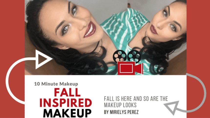 Fall Inspired Makeup Look (Makeup in Under 10 Minutes)