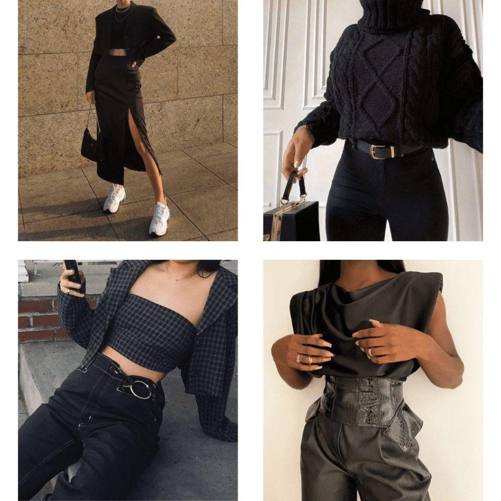 monochrome black outfit ideas