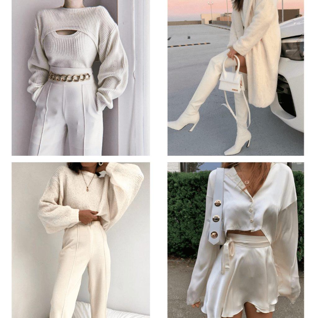 monochrome cream outfit ideas