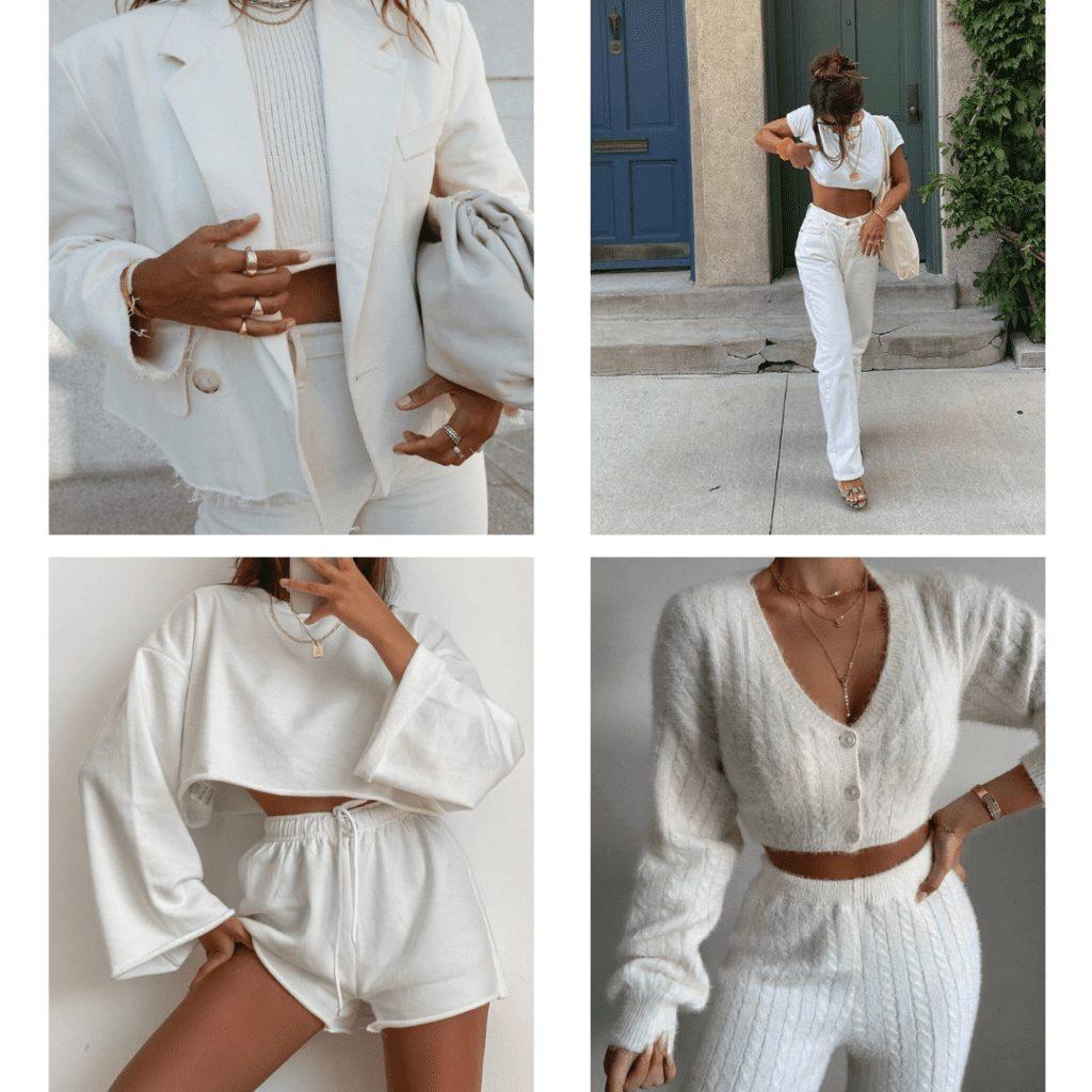 monochrome white outfit ideas
