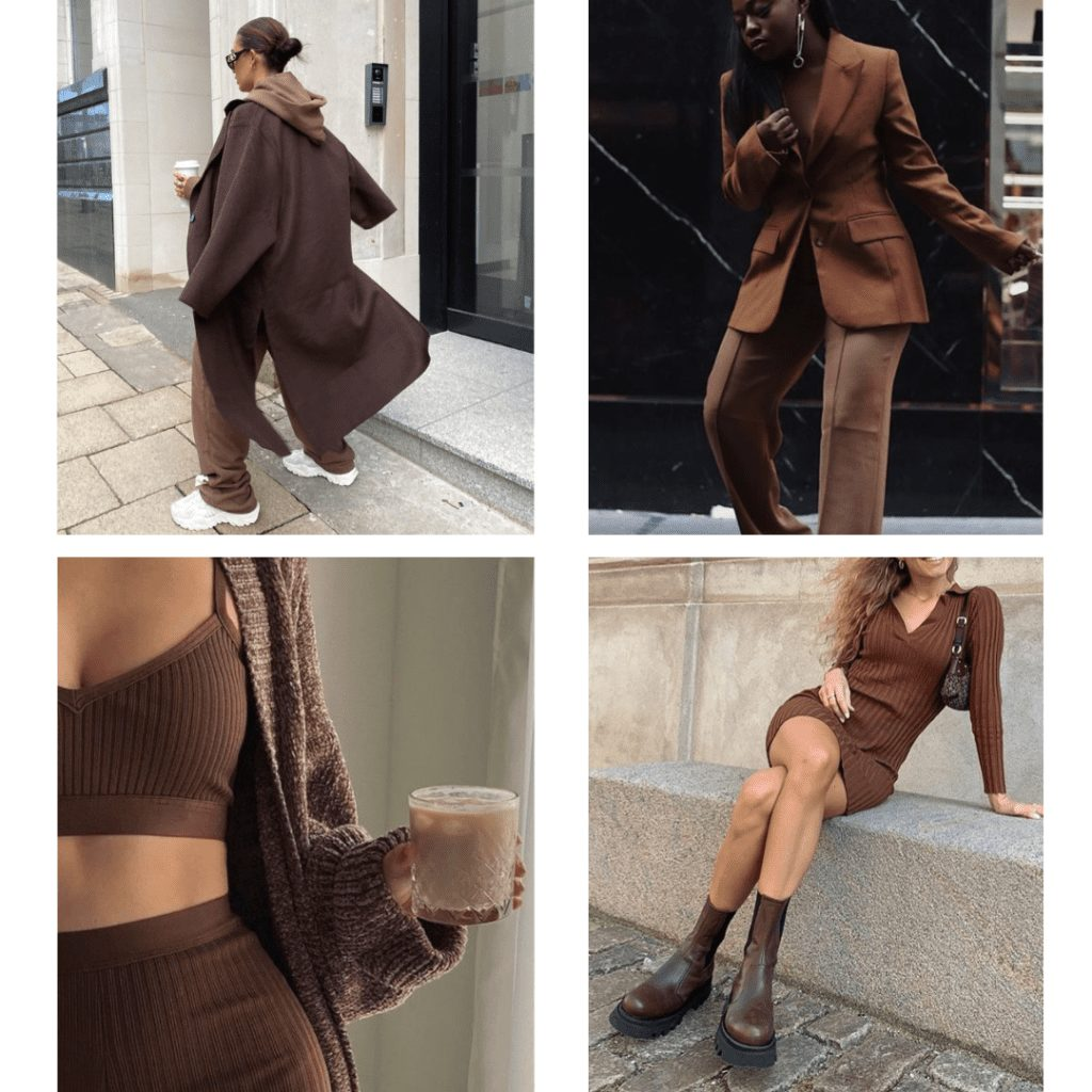 monochrome brown outfit ideas