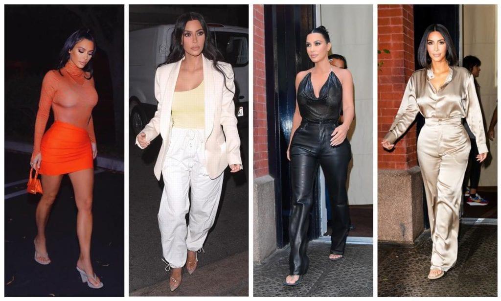 Kim Kardashian monochrome styles