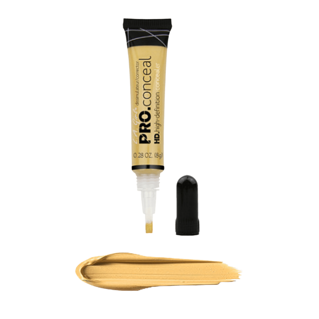 LA Girl HD Pro Conceal Color Corrector in Yellow Color Corrector Corrects dullness caused by purple/blue undertones and brightens undereye circles for medium to dark skin tones